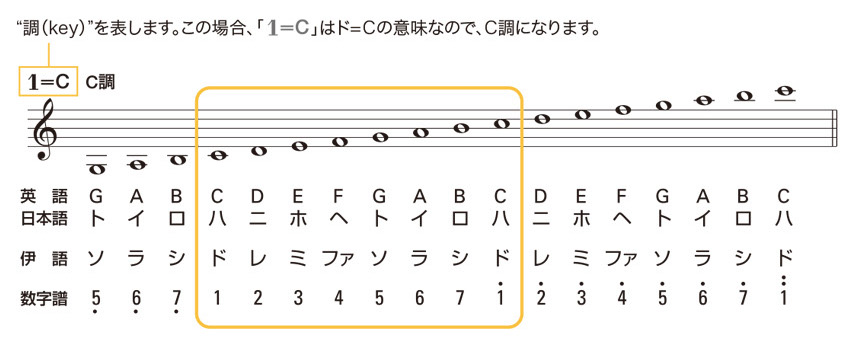 数楽譜の基礎知識:数楽譜の読み方